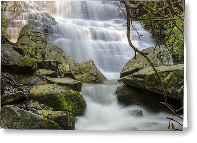 Angels at Benton Waterfall Greeting Card by Debra and Dave Vanderlaan