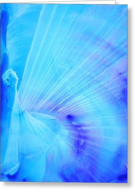 Rainbow Fantasy Art Greeting Card Greeting Cards - Angels Calling Greeting Card by Vicki Wynberg