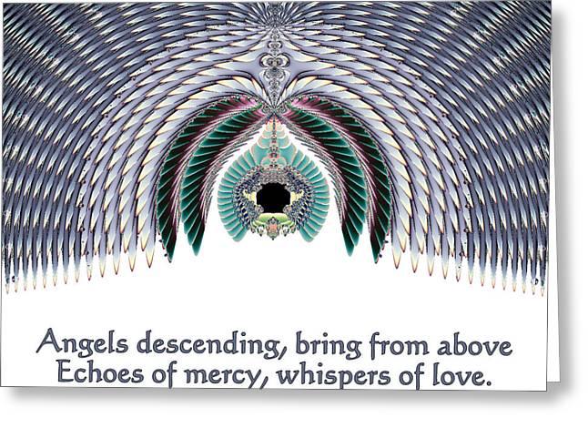 Metaphysics Greeting Cards - Angels Descending Greeting Card by Renee Trenholm