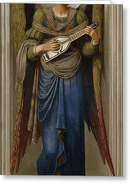 Religious ist Paintings Greeting Cards - Angels Greeting Card by John Melhuish Strudwick