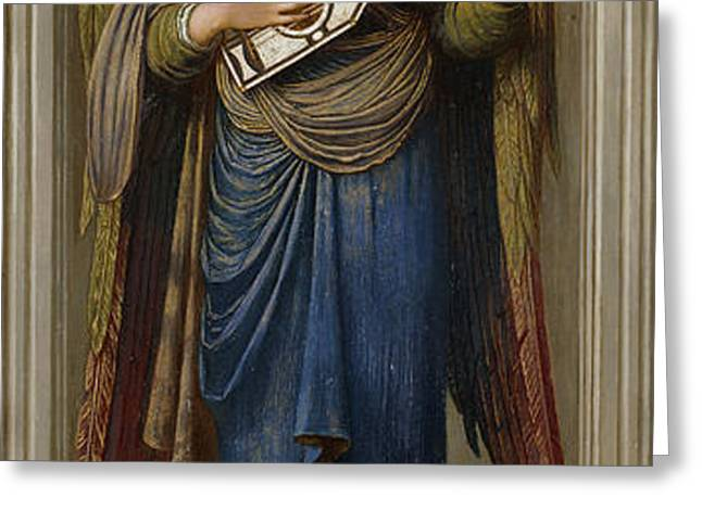 Angels Greeting Card by John Melhuish Strudwick