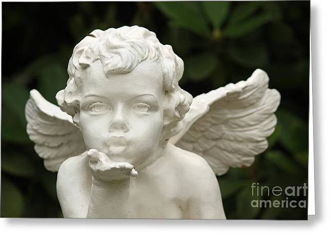 Angels Breath Greeting Cards - Angels Kiss Greeting Card by Four Hands Art