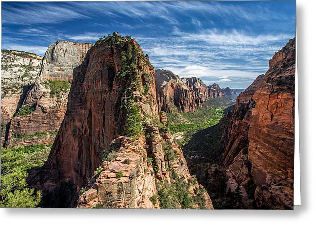 40mm Greeting Cards - Angels Landing Greeting Card by Pierre Leclerc Photography