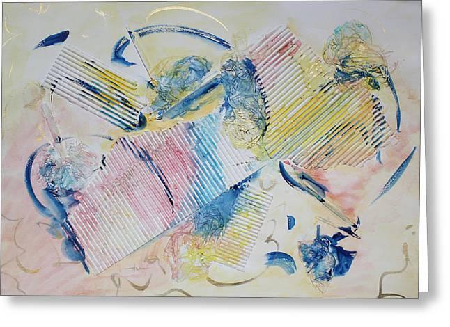 Angels Lingering Greeting Card by Asha Carolyn Young