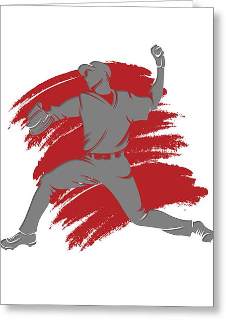 Baseball Art Photographs Greeting Cards - Angels Shadow Player2 Greeting Card by Joe Hamilton