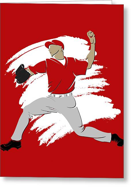 Baseball Art Photographs Greeting Cards - Angels Shadow Player3 Greeting Card by Joe Hamilton