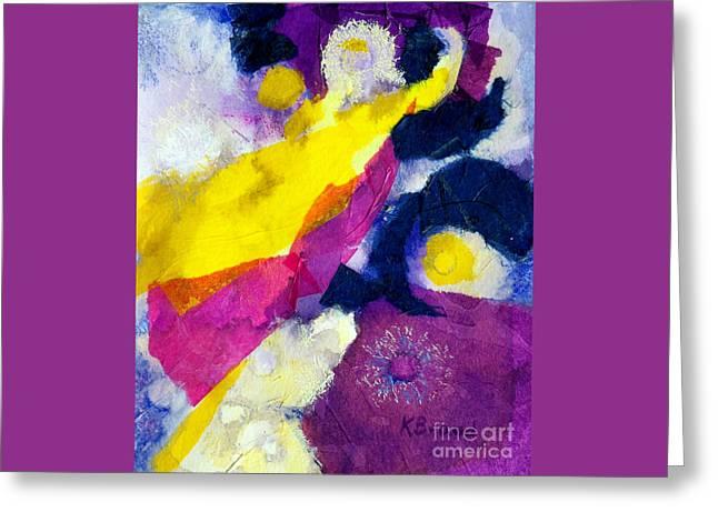 Angels Surround Me Greeting Card by Kathy Braud