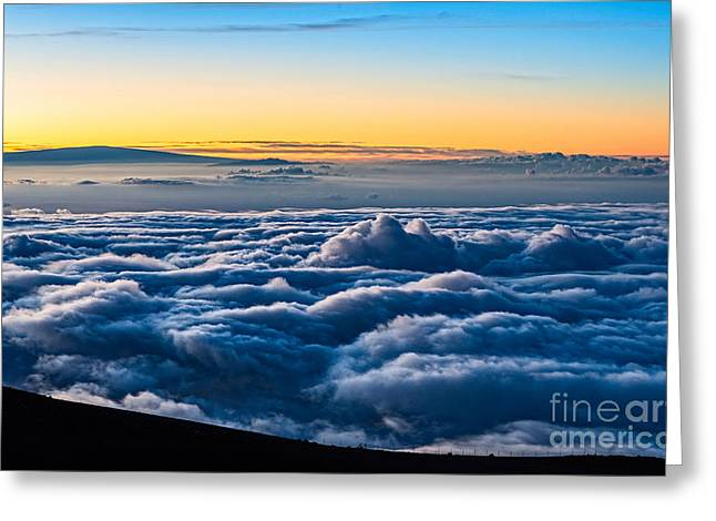 Above The Clouds Greeting Cards - Angels View - summit of Haleakala Volcano in Maui Greeting Card by Jamie Pham