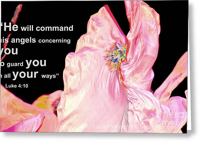 Angels Will Guard You Greeting Card by Artist and Photographer Laura Wrede