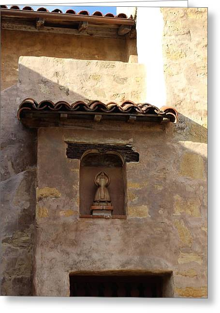Town Square Greeting Cards - Angels Window Greeting Card by FlyingFish Foto