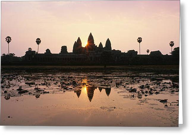 Southeast Asia Greeting Cards - Angkor Vat Cambodia Greeting Card by Panoramic Images