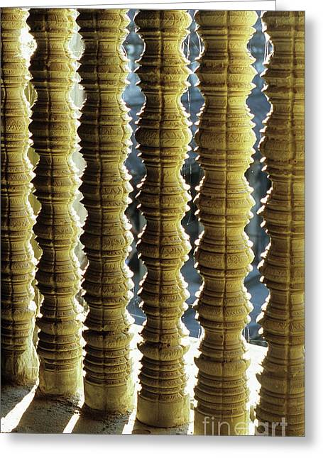 Balusters Greeting Cards - Angkor Wat Colonnettes 01 Greeting Card by Rick Piper Photography