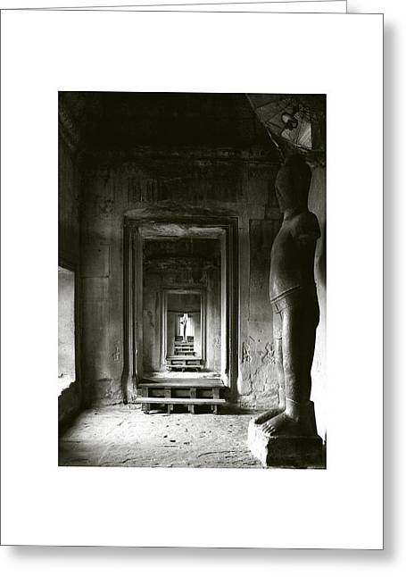Temple Of Ta Prohm Greeting Cards - Angkor Wat I Greeting Card by Don Saunderson