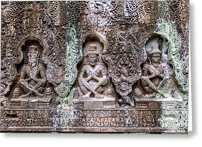 Dancer Art Greeting Cards - Angkor Wat Greeting Card by Stylianos Kleanthous