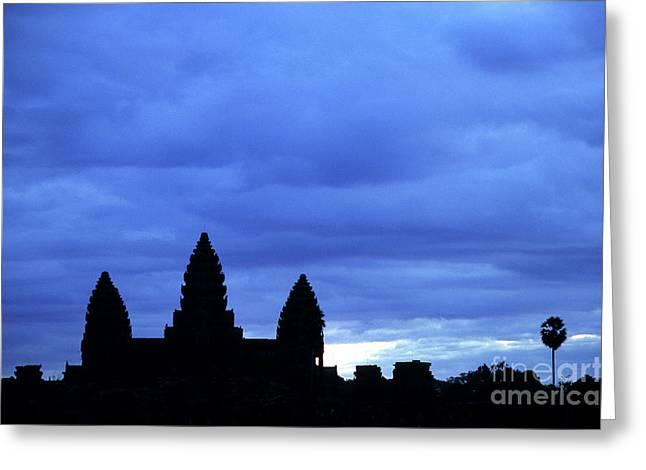 Rick Piper Greeting Cards - Angkor Wat Sunrise 01 Greeting Card by Rick Piper Photography