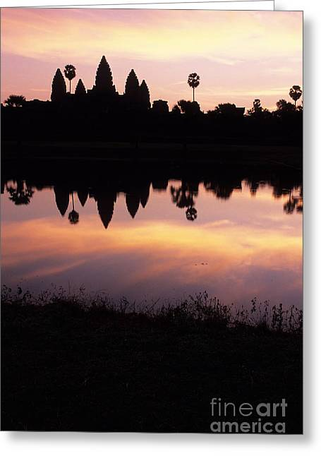 Historical Site Greeting Cards - Angkor Wat sunrise Cambodia Greeting Card by Ryan Fox