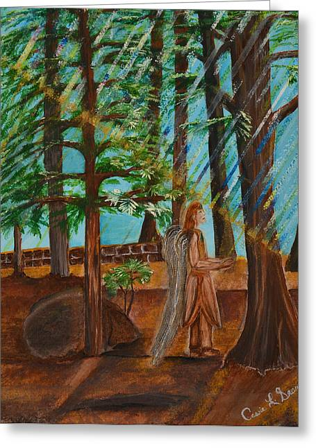 Art-by-cassie Sears Greeting Cards - Angle in Idyllwild Greeting Card by Cassie Sears