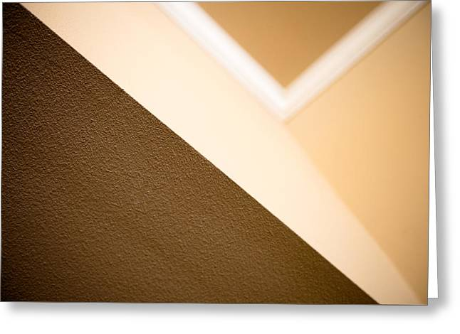Beige Abstract Greeting Cards - Angles Greeting Card by Darryl Dalton