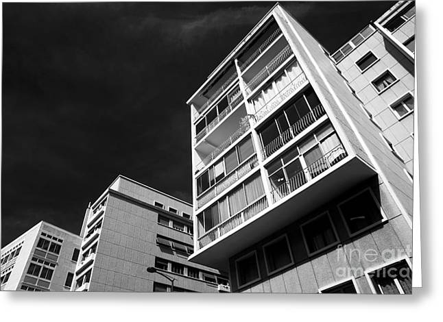 Ir Photography Greeting Cards - Angles in Marseille Greeting Card by John Rizzuto