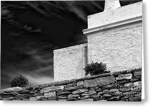 Stone House Greeting Cards - Angles on the Island of Delos Greeting Card by John Rizzuto