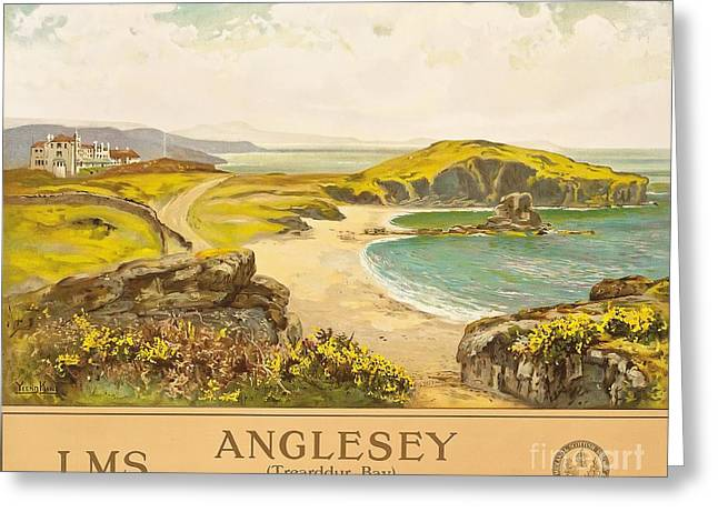 Lm Greeting Cards - Anglesey Greeting Card by Henry John Yeend King