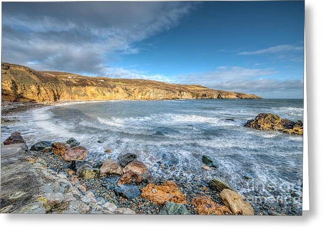 Stones Digital Art Greeting Cards - Anglesey Seascape Greeting Card by Adrian Evans