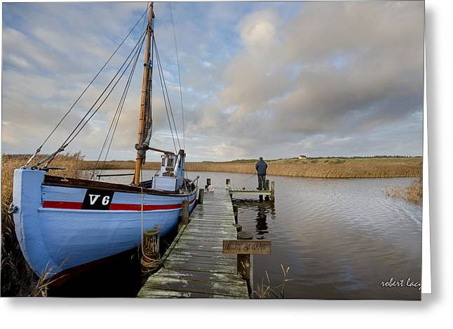 Jutland Greeting Cards - Angling for Dinner Greeting Card by Robert Lacy