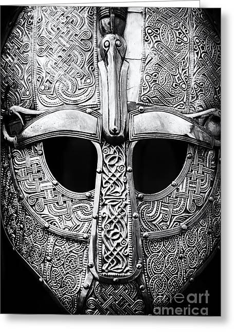 Tim Greeting Cards - Anglo Saxon Helmet Greeting Card by Tim Gainey