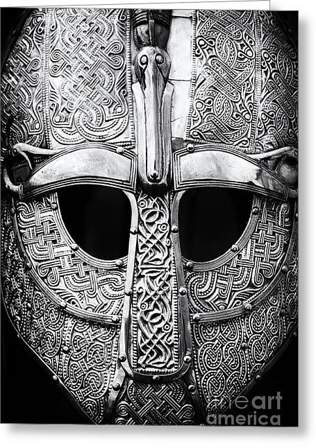 Weaponry Greeting Cards - Anglo Saxon Helmet Greeting Card by Tim Gainey