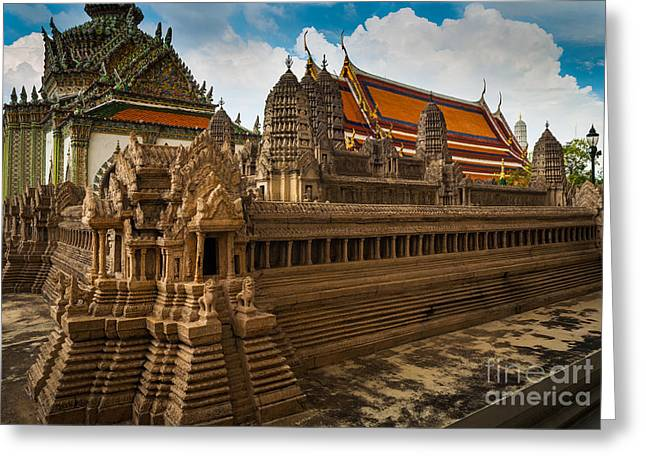Rama Greeting Cards - Angor Wat Miniature Greeting Card by Inge Johnsson