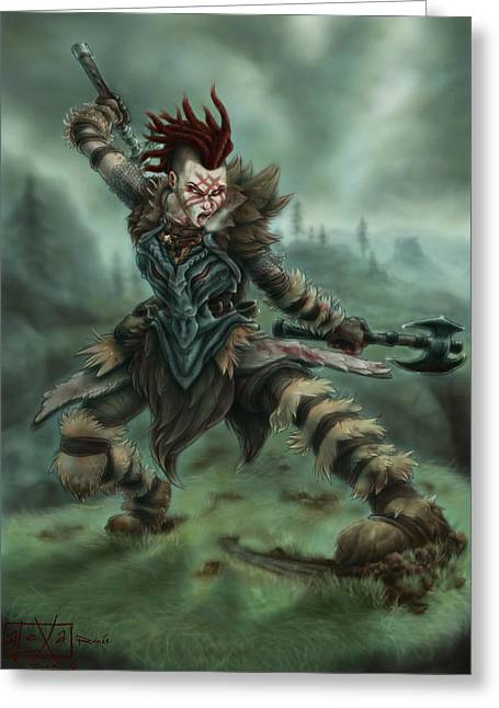 Badass Greeting Cards - Angrboda the Lycanthrope Greeting Card by Alexa-Renee Smothers