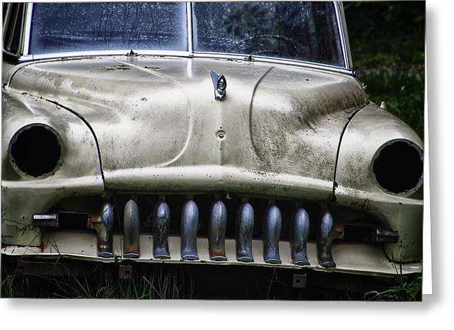 Rusted Cars Greeting Cards - Angry Greeting Card by Joan Carroll