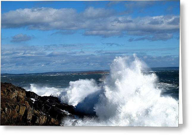 04003 Greeting Cards - Angry Shores Greeting Card by Donnie Freeman
