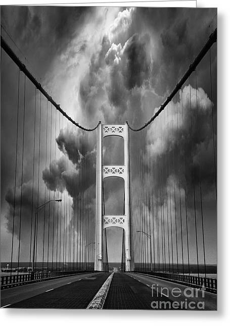 Upper Peninsula Greeting Cards - Angry skies Greeting Card by Todd Bielby