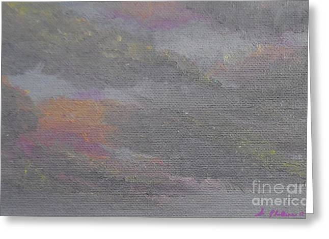 Storm. Rain. Oil On Canvas Greeting Cards - Angry Sky Greeting Card by Scott Phillips