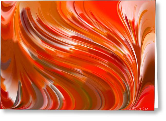Shades Of Red Digital Art Greeting Cards - Angry Wind Greeting Card by Dave Lee