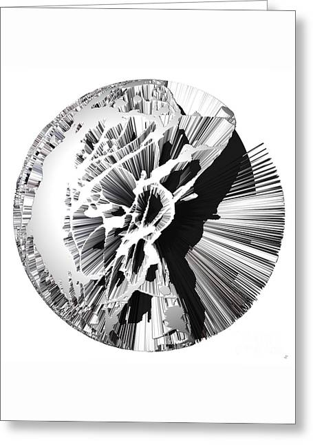 Abstract Nature Greeting Cards - Angst III painting as a Spherical Depth Map. 1 Greeting Card by Paul Davenport