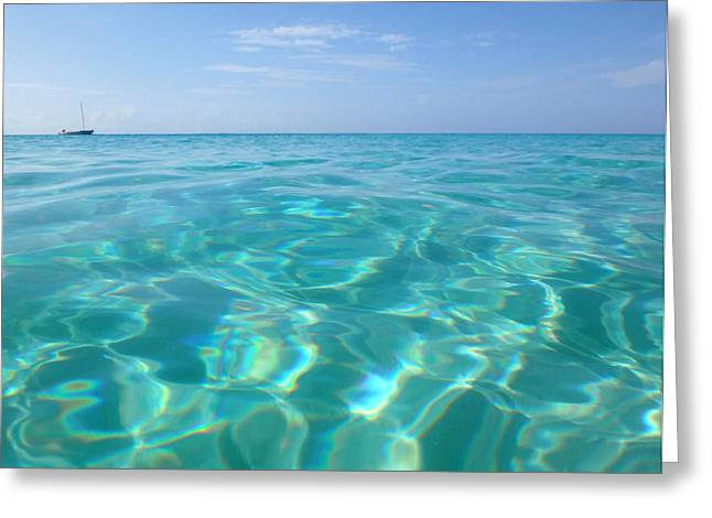Recently Sold -  - Snorkel Greeting Cards - Anguilla Clarity Greeting Card by Kristin Bourne