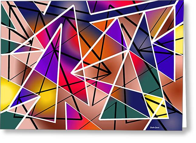 Symmetry Axis Greeting Cards - Angular Greeting Card by Stephen Younts