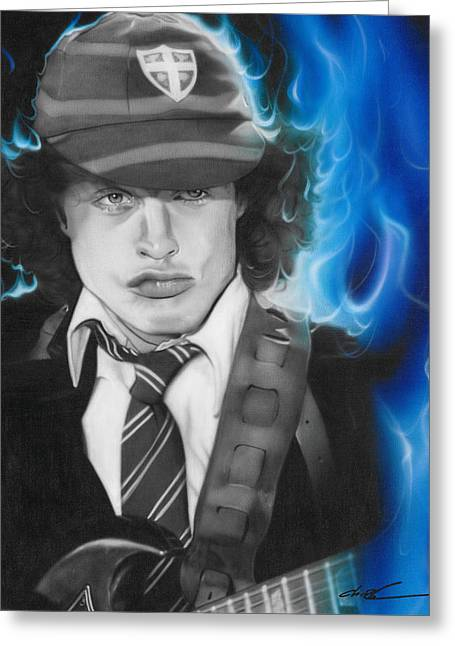 Angus Young Greeting Cards - Angus Greeting Card by Christian Chapman Art