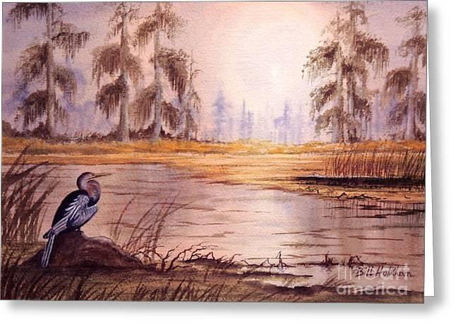 Anhinga At Wakulla Reserve Greeting Card by Bill Holkham