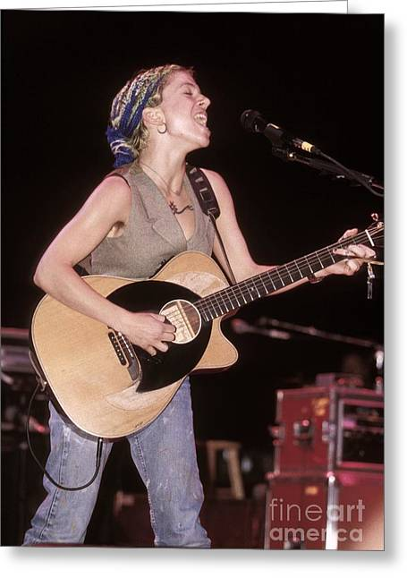 Ani Difranco Greeting Cards - Ani Di Franco Greeting Card by Front Row  Photographs