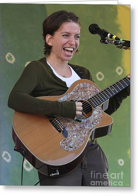 Ani Difranco Greeting Cards - Ani DiFranco Greeting Card by Front Row  Photographs