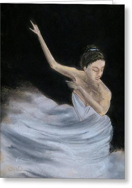 Ballet Dancers Greeting Cards - Anias flight Greeting Card by C Pichura