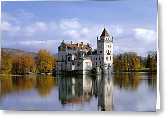 Wood Castle Greeting Cards - Anif Castle Austria Greeting Card by Panoramic Images