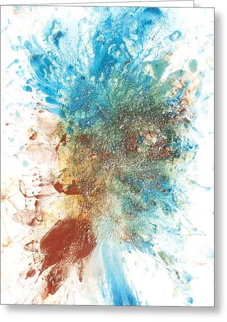 Generative Abstract Greeting Cards - Yangs Walkabout Greeting Card by Sora Neva