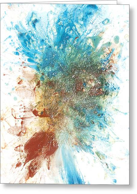 Emergence Paintings Greeting Cards - Yangs Walkabout Greeting Card by Sora Neva