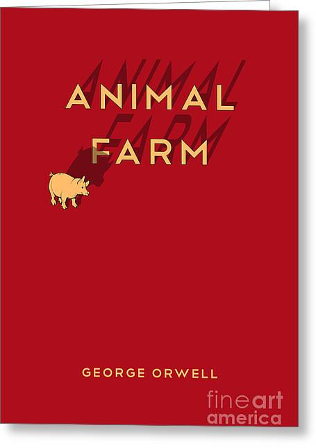 Book Jacket Greeting Cards - Animal Farm Book Cover Poster Art 1 Greeting Card by Nishanth Gopinathan