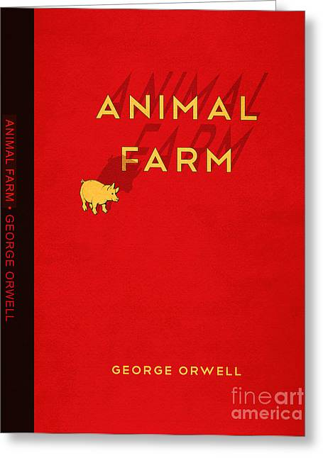 Book Jacket Greeting Cards - Animal Farm Book Cover Poster Art 2 Greeting Card by Nishanth Gopinathan