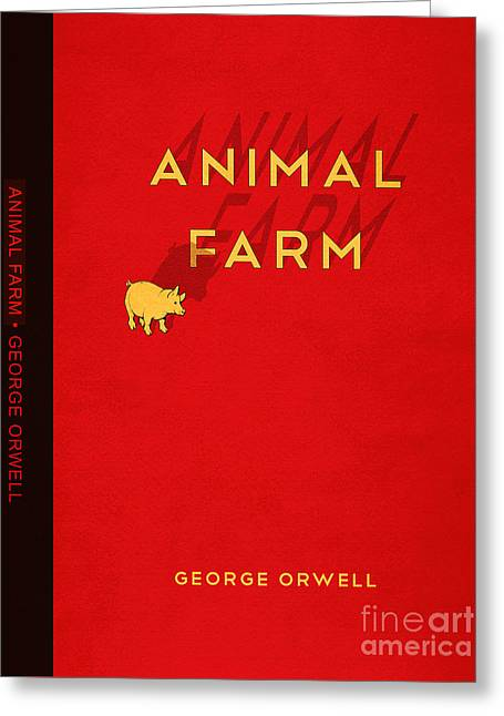 Animal Farm Book Cover Poster Art 2 Greeting Card by Nishanth Gopinathan